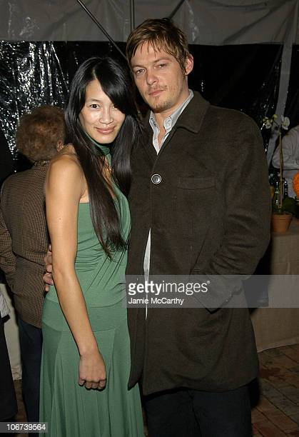 Eugenia Yuan and Norman Reedus during 2004 12th Annual Hamptons International Film Festival Chairman's Cocktail Reception Hosted by Stuart and Vicki...