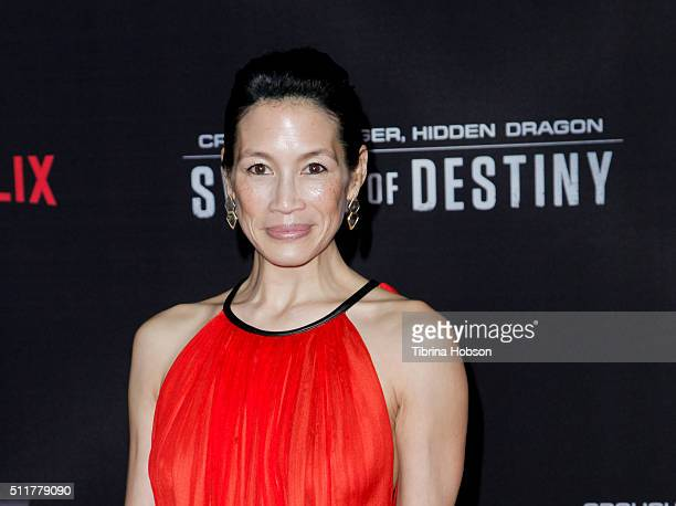 Eugenia Yuan attends the Premiere of Netflix's 'Crouching Tiger, Hidden Dragon: Sword Of Destiny' at AMC Universal City Walk on February 22, 2016 in...