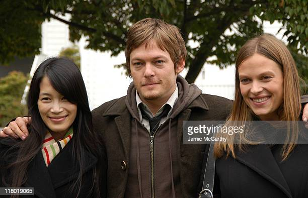 Eugenia Yuan, Norman Reedus and Vinessa Shaw during 12th Annual Hamptons International Film Festival - Rising Stars Symposium at The International...