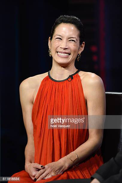 Eugenia Yuan visits Extra at Universal Studios Hollywood on February 22 2016 in Universal City California