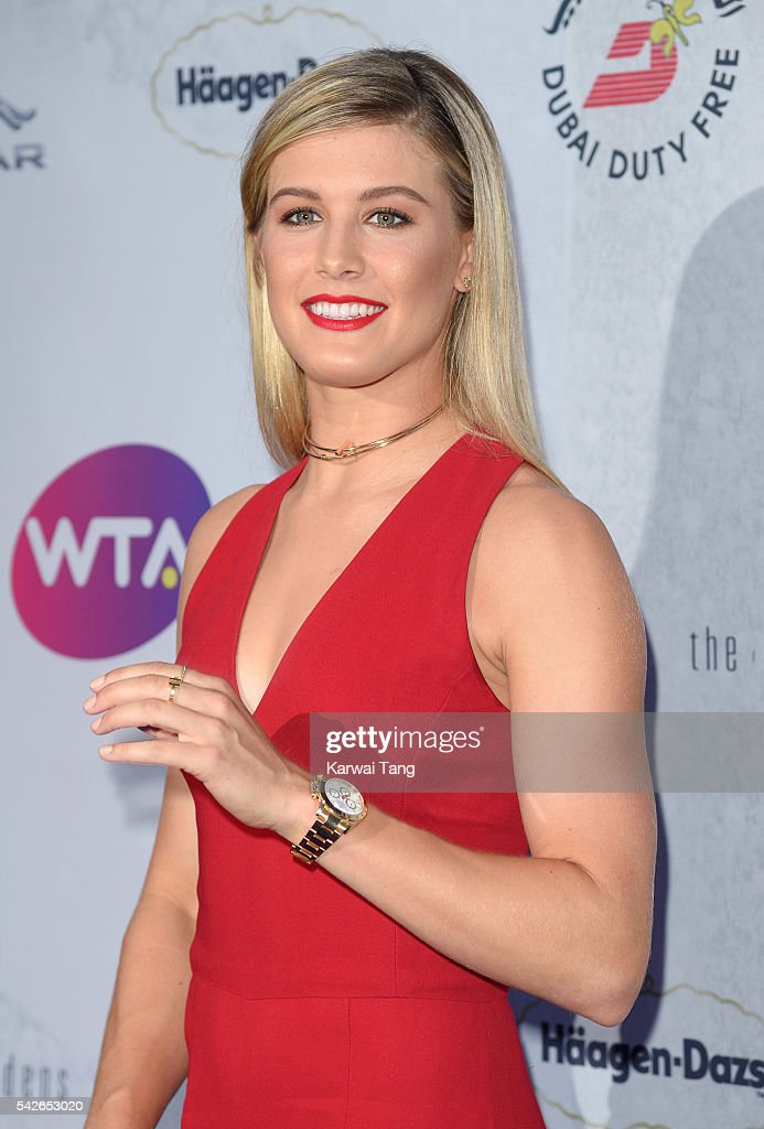 Eugenie Bouchard arrives for the WTA Pre-Wimbledon Party at Kensington Roof Gardens on June 23, 2016 in London, England.