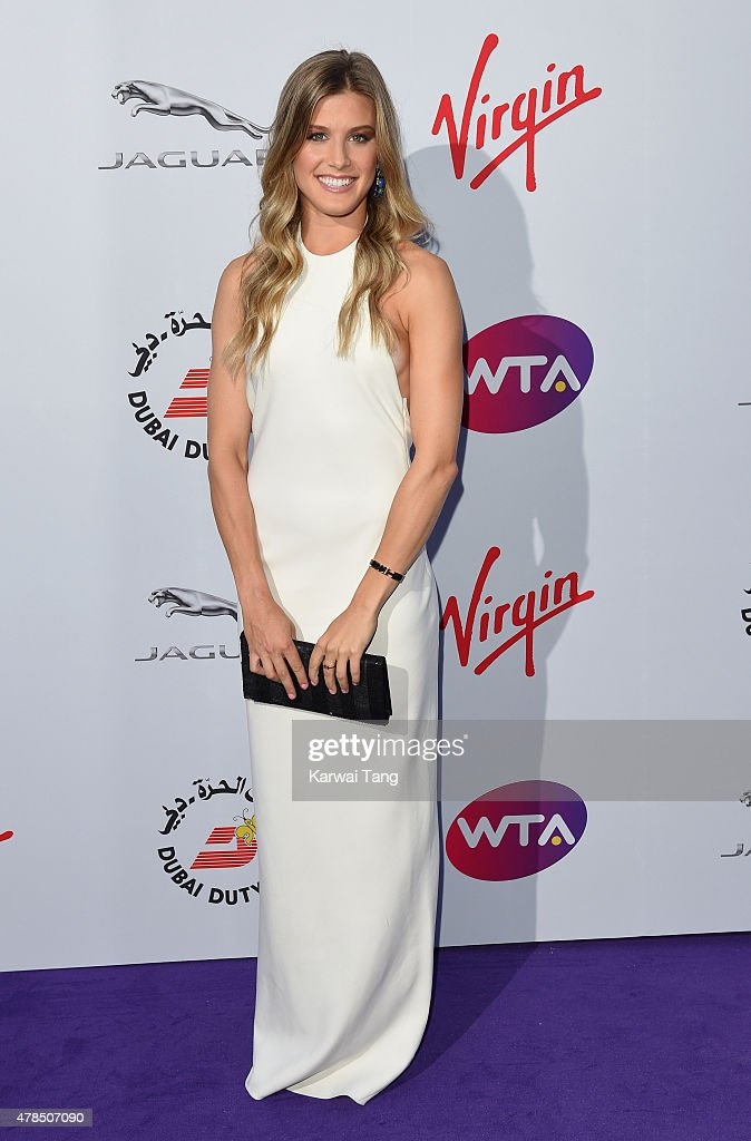 Eugenie Bouchard attends the WTA Pre-Wimbledon Party at Kensington Roof Gardens on June 25, 2015 in London, England.