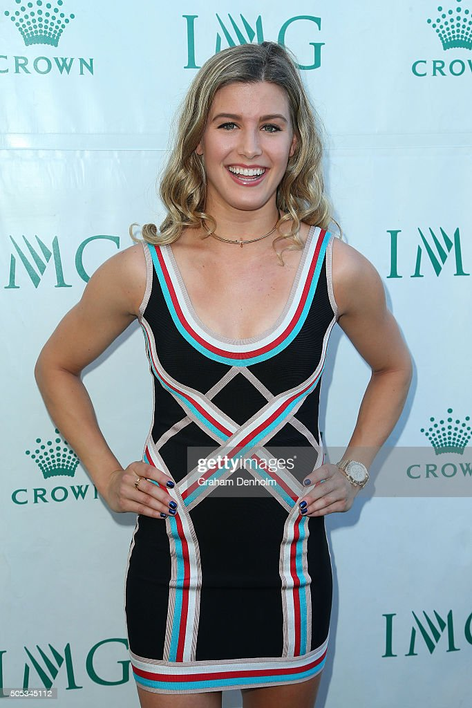Eugenie Bouchard of Canada arrives at the 2016 Australian Open party at Crown Entertainment Complex on January 17, 2016 in Melbourne, Australia.