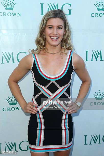 Eugenie Bouchard of Canada arrives at the 2016 Australian Open party at Crown Entertainment Complex on January 17 2016 in Melbourne Australia