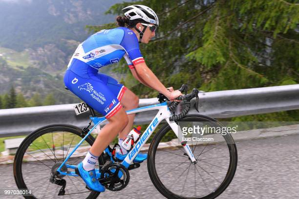 Eugenie Duval of France and Team FDJ Nouvelle Aquitaine Futuroscope / during the 29th Tour of Italy 2018 Women Stage 7 a 15km Individual time trial...