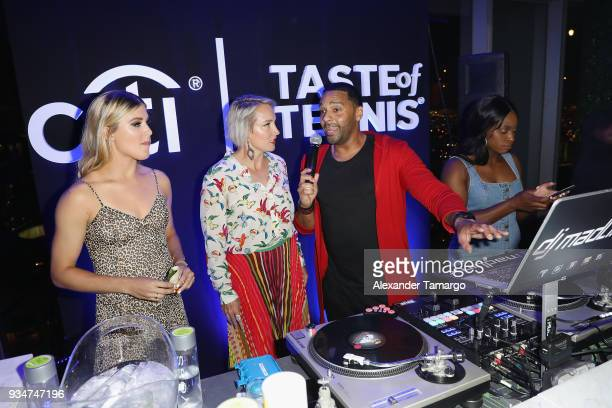 Eugenie 'Genie' Bouchard Bethanie Mattek Sands Dj Madlinks and Sloane Stephens attend the Citi Taste Of Tennis Miami 2018 at W Miami on March 19 2018...