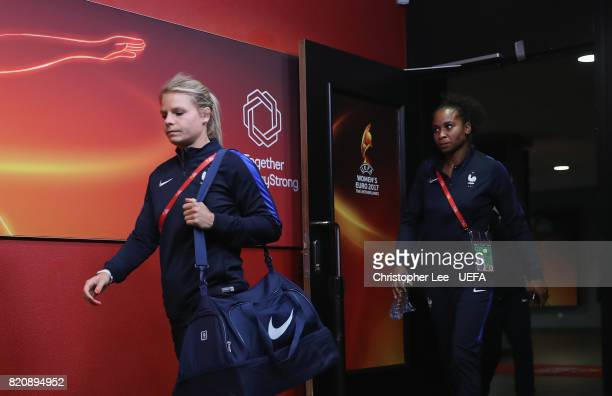 Eugenie Le Sommer of France arrives during the UEFA Women's Euro 2017 Group C match between France and Austria at Stadion Galgenwaard on July 22 2017...