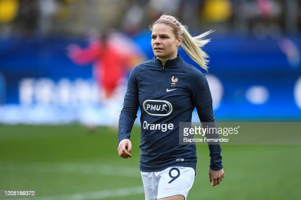 Eugenie LE SOMMER of France before the Tournoi de France International Women's soccer match between France and Canada on March 4 2020 in Calais France