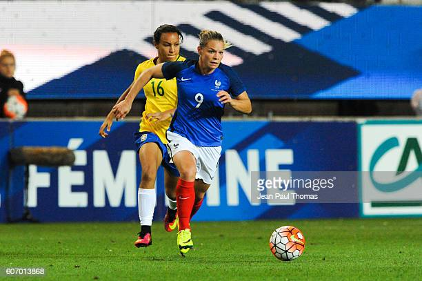 Eugenie LE SOMMER of France during the International friendly match between France women and Brazil women on September 16 2016 in Grenoble France
