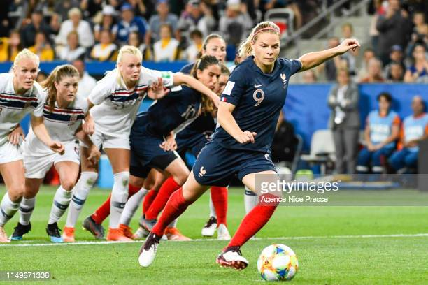 Eugenie Le Sommer of France during the Women's World Cup match between France and Norway at Allianz Riviera on June 12 2019 in Nice France