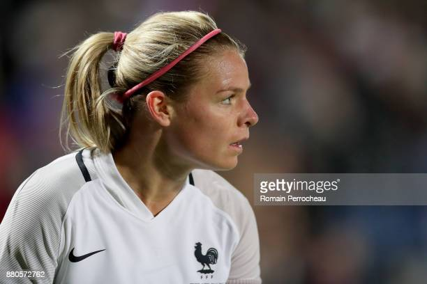 Eugenie Le Sommer of France in action during a Women's International Friendly match between France and Sweden at Stade ChabanDelmas on November 27...