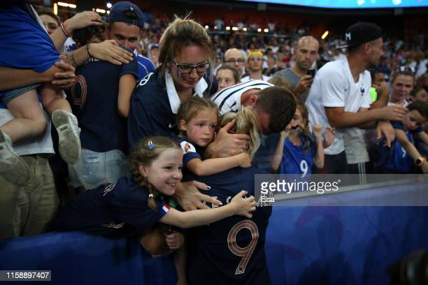 Eugenie Le Sommer of France looks dejected following the 2019 FIFA Women's World Cup France Quarter Final match between France and USA at Parc des...