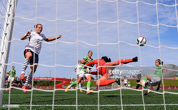 Eugenie le Sommer of France scores her teams third goal during the FIFA Women's World Cup 2015 Group F match between Mexico and France at Lansdowne...