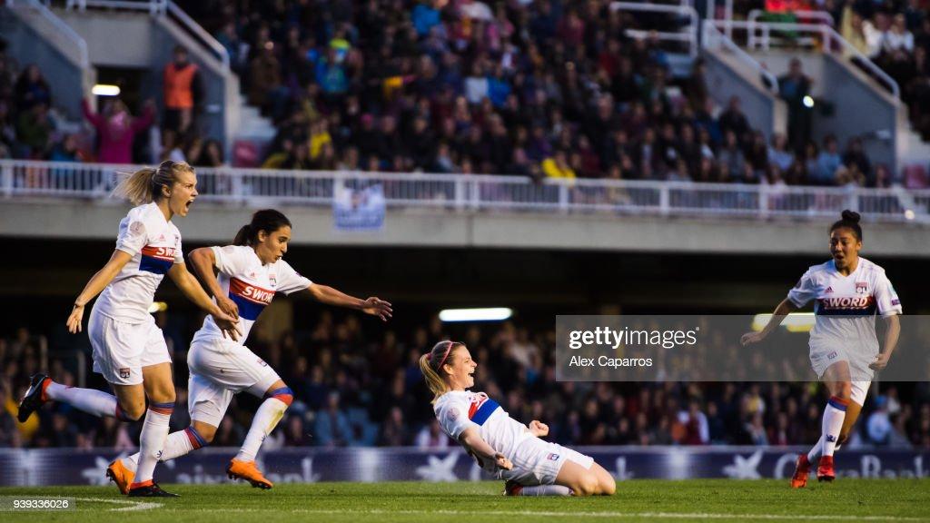 FC Barcelona Women v Olympique Lyon Women - UEFA Women's Champions League Quarter Final 2nd Leg : Nachrichtenfoto