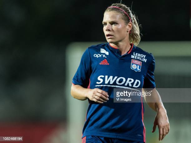 Eugenie Le Sommer of Olympique Lyonnais during the UEFA Women's Champions League round of 16 first leg match between Ajax Amsterdam and Olympique...