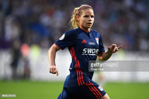 Eugenie Le Sommer of Olympique Lyonnais in action during the UEFA Womens Champions League Final between VfL Wolfsburg and Olympique Lyonnais on May...