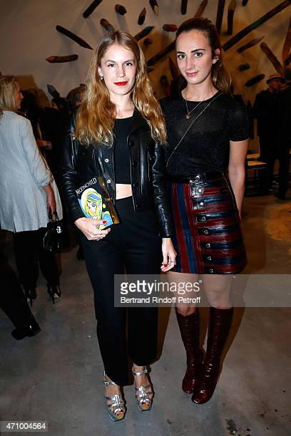 Eugenie Niarchos and Alexia Niedzielski attend the 'A Moment of Reconstruction' Informal Dinner and Concert held at VNH Gallery on April 24 2015 in...