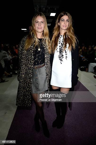 Eugenie Niarchos and Bianca Brandolini d' Adda attend the Giambattista Valli show as part of the Paris Fashion Week Womenswear Spring/Summer 2016 on...