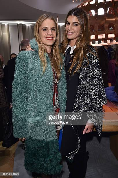 Eugenie Niarchos and Bianca Brandolini D'Adda attend the Missoni opening store at 219 Rue Saint Honore during the Paris Fashion Week Haute Couture...