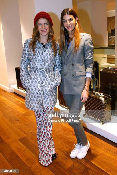 Eugenie Niarchos and Bianca Brandolini d'Adda attend the Opening of the Boutique Rimowa - 73 Rue du Faubourg Saint Honore in Paris on March 6, 2017...