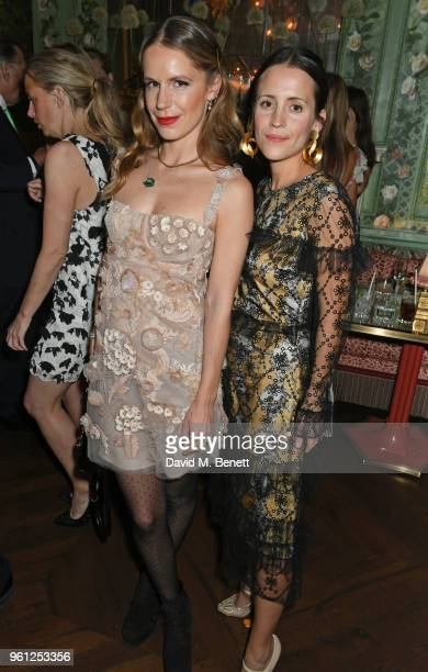 Eugenie Niarchos and Emma Reeve attend the Annabel's x Dior dinner on May 21 2018 in London England