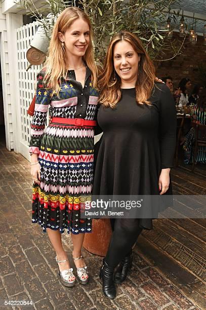 Eugenie Niarchos and Mary Katrantzou attend a private lunch hosted by Mary Katrantzou and Anastasia Koutsioukis to celebrate summer with NETAPORTER...