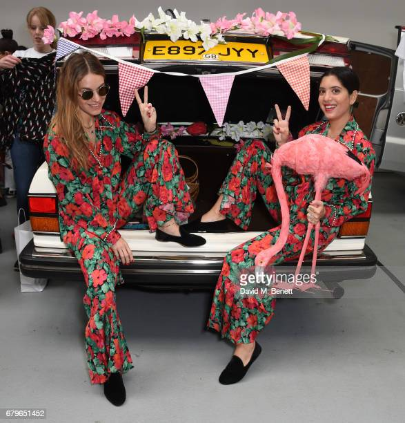 Eugenie Niarchos and Noor Fares attend the #SheInspiresMe Car Boot Sale for Women for Women International at Brewer Street Car Park on May 6 2017 in...