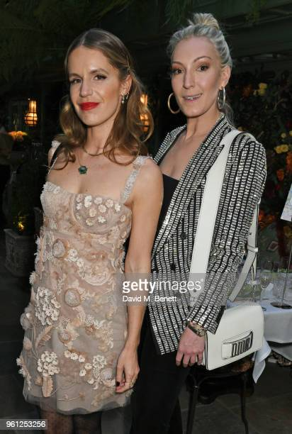 Eugenie Niarchos and Olivia Buckingham attend the Annabel's x Dior dinner on May 21 2018 in London England