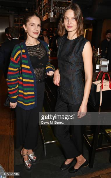 Eugenie Niarchos and Victoria Sekrier attend Prabal Gurung and Caroline Issa's dinner at Shochu Lounge at ROKA to celebrate the arrival of Spring...