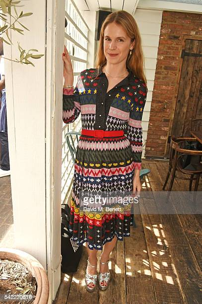 Eugenie Niarchos attends a private lunch hosted by Mary Katrantzou and Anastasia Koutsioukis to celebrate summer with NETAPORTER at Mandolin at...