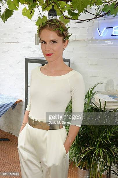 Eugenie Niarchos attends Mazi's Summer party with guest of honor Eugenie Niarchos Venyx World on June 24 2014 in London England