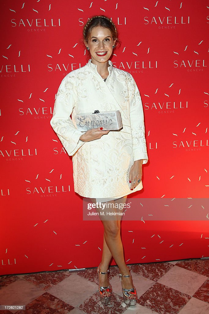 Eugenie Niarchos attends the Founder And CEO Alessandro Savelli And Contemporary Style Icon Julia Retoin Roifeld Launch SAVELLI The World's First Luxury Smart Phone Especially For Women During Haute Couture Week at Musee Jacquemart-Andre on July 3, 2013 in Paris, France.