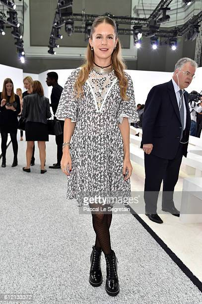Eugenie Niarchos attends the Giambattista Valli show as part of the Paris Fashion Week Womenswear Spring/Summer 2017 on October 3 2016 in Paris France
