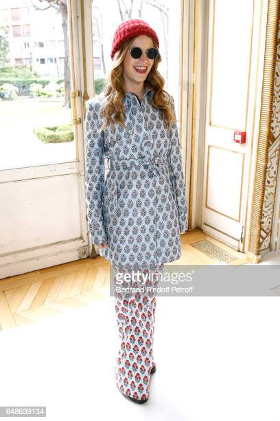 Eugenie Niarchos attends the Giambattista Valli show as part of the Paris Fashion Week Womenswear Fall/Winter 2017/2018 on March 6 2017 in Paris...