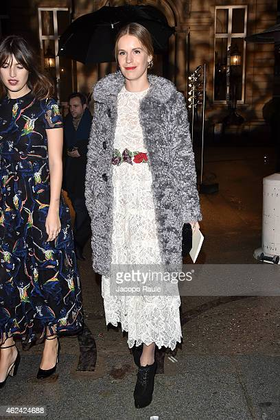 Eugenie Niarchos attends the Valentino show as part of Paris Fashion Week Haute Couture Spring/Summer 201 on January 28 2015 in Paris France