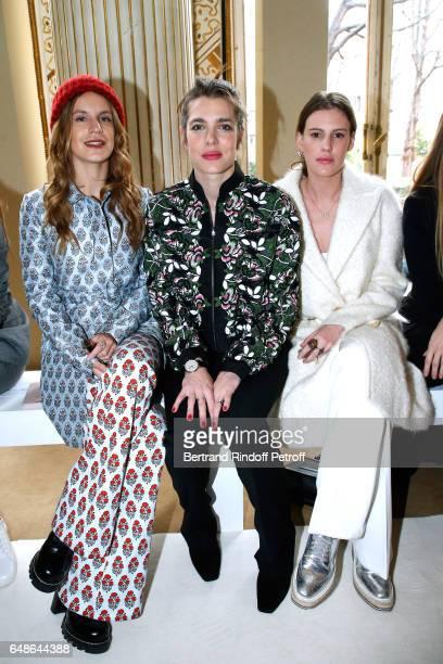 Eugenie Niarchos Charlotte Casiraghi and Juliette Dol Maillot attend the Giambattista Valli show as part of the Paris Fashion Week Womenswear...