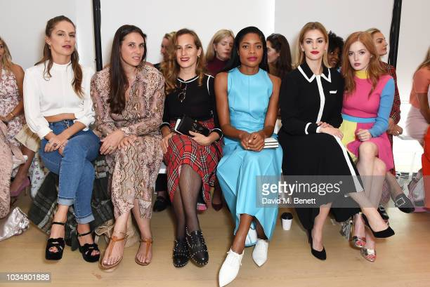 Eugenie Niarchos guest Charlotte Dellal Naomie Harris Stefanie Martini and Ellie Bamber attend the Emilia Wickstead front row during London Fashion...