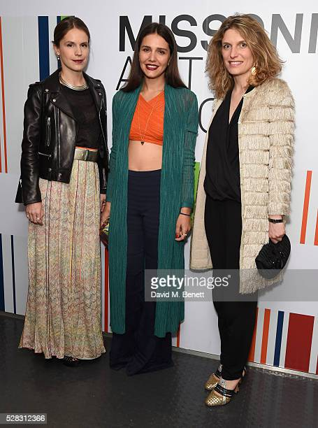 Eugenie Niarchos, Margherita Maccapani Missoni and Martina Mondadori attends the 'Missoni Art Colour' private view and dinner in partnership with...