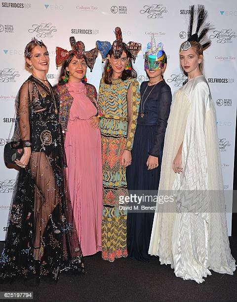 Eugenie Niarchos Noor Fares Tatiana Santo Domingo guest and Sabine Getty attend The Animal Ball 2016 presented by Elephant Family at Victoria House...