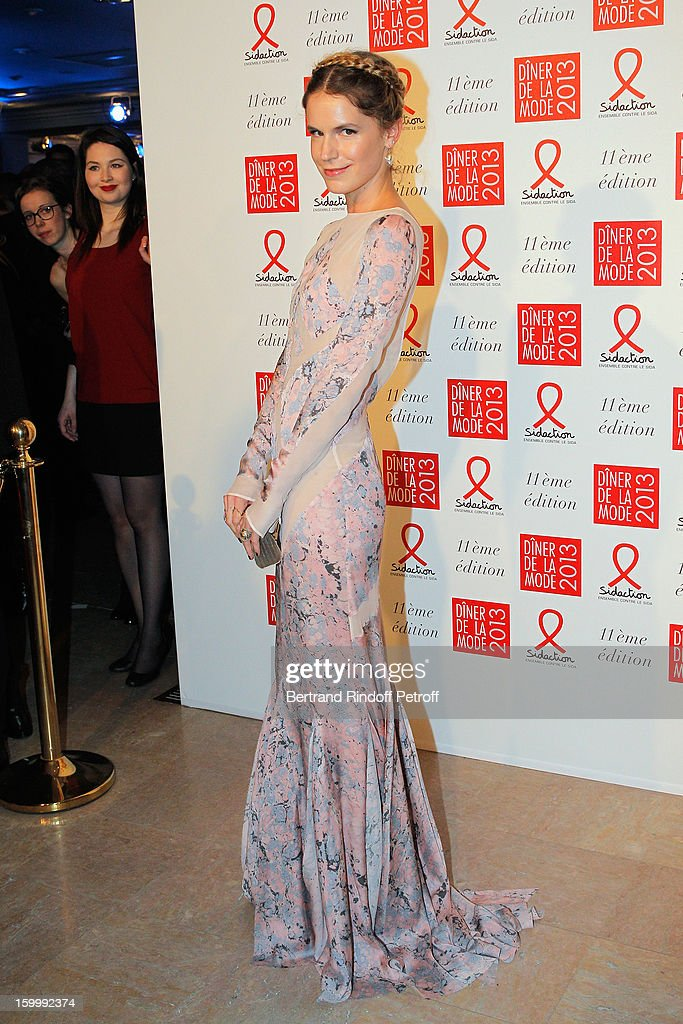 Eugenie Niarchos poses as she arrives to attend the Sidaction Gala Dinner 2013 at Pavillon d'Armenonville on January 24, 2013 in Paris, France.