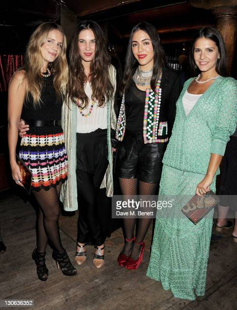 Eugenie Niarchos Tatiana Santo Domingo Dana Alikhani and Margherita Missoni attend a party celebrating the launch of the Muzungu Sisters popup shop...