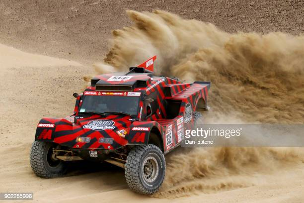 Eugenio Amos of Italy and Two Wheels Drive drives with co-driver Sebastien Delaunay of France in the Ford Buggy 2WD in the Classe : T1.3 : 2 Roues...