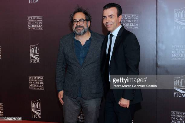 Eugenio Caballero and Alejandro Ramírez Magana pose during the red carpet of Netflix film 'Roma' directed by Alfonso Cuaron as part of Festival...