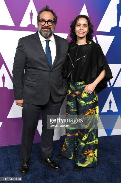 Eugenio Caballero and Barbara Enriquez attend the 91st Oscars Nominees Luncheon at The Beverly Hilton Hotel on February 04, 2019 in Beverly Hills,...