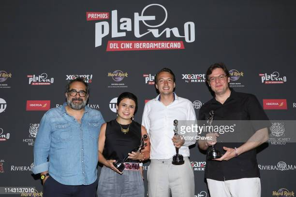 Eugenio Caballero producers of the film Roma Nicolas Celis Gaby Rodriguez and guest won in the category audience award for the best female...