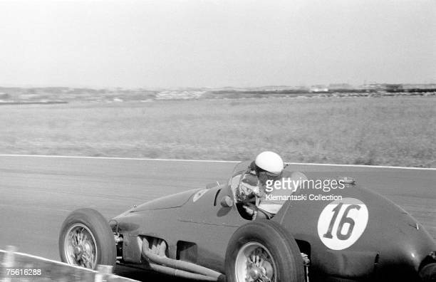 Eugenio Castellotti in a Ferrari 625/F1 during the British Grand Prix at Aintree 16th July 1955 Neither the Ferraris or the Maseratis could contest...