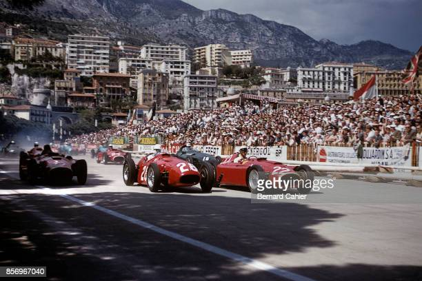 Eugenio Castellotti Stirling Moss Ferrari D50 Maserati 250F Grand Prix of Monaco Circuit de Monaco 13 May 1956