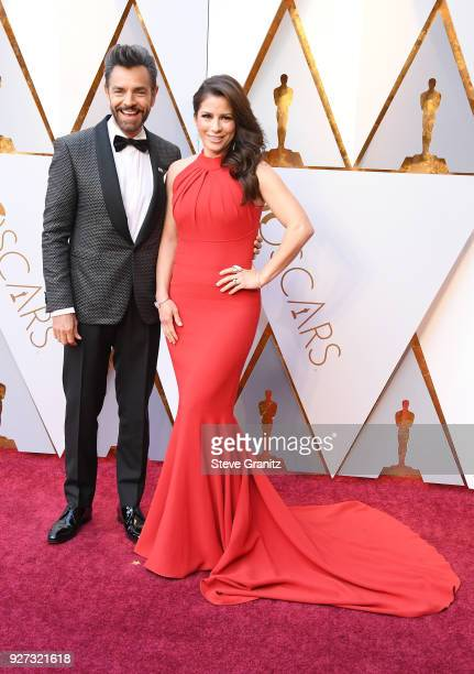 Eugenio Derbez and Alessandra Rosaldo attend the 90th Annual Academy Awards at Hollywood Highland Center on March 4 2018 in Hollywood California