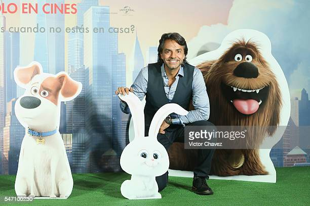 Eugenio Derbez attends a press conference and photocall to promote the new film 'The Secret Life of Pets' at St Regis Hotel on July 13 2016 in Mexico...