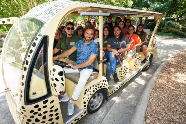 TX: Eugenio Derbez visits the Wildlife Summer Camp at Dallas Zoo